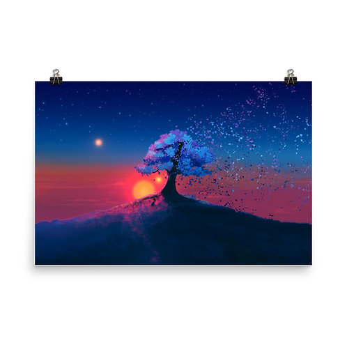 """Poster """"Just a Tree and a Breeze"""" by JoeyJazz"""