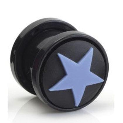 Black & Blue Star Tunnels - Pair