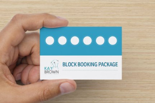 Block Booking Package - 6 Hour sessions