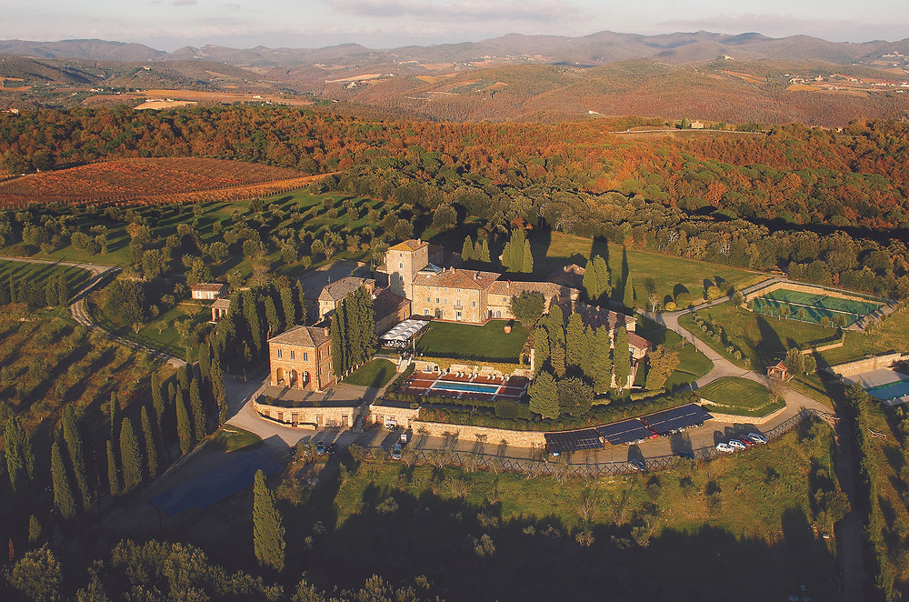 Borgo Scopeto Relais Aerial View