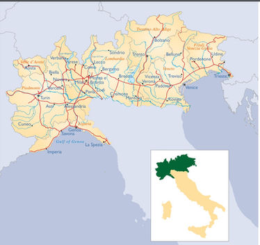 Northern Italy map
