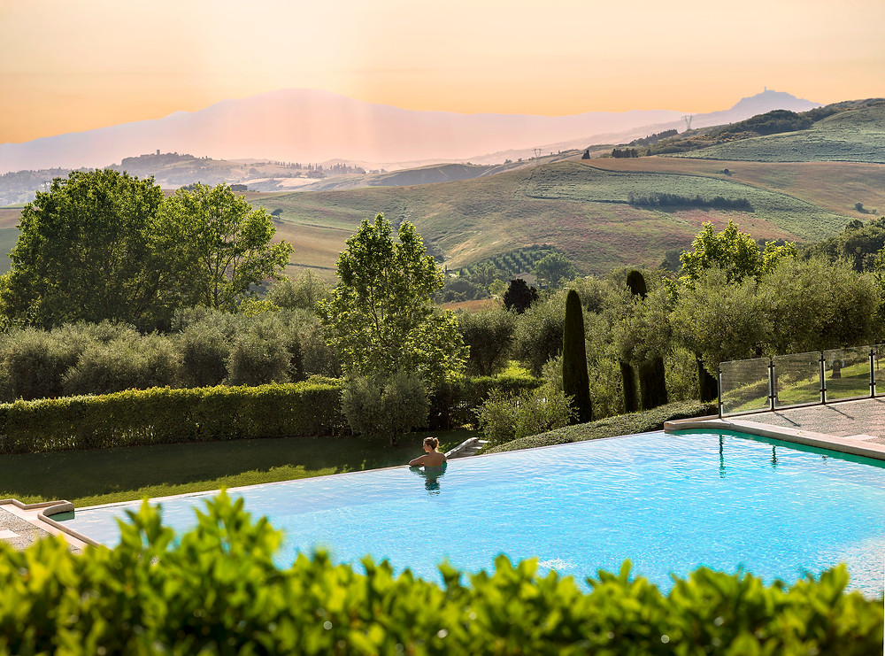 A solitary soak at Fonteverde in Tuscany