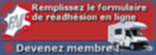 Réadhésion en ligne Fédération Française Association des Clubs de Camping Cars