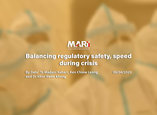 Balancing regulatory safety, speed during a crisis