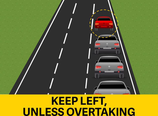 """Are you on the correct lane on the highway? Don't be""""that guy"""""""