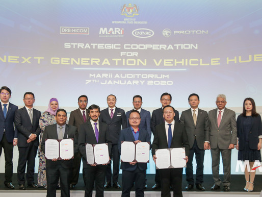 MoUs signed by MARii, PROTON, CATARC and DRB-HICOM to boost adoption of next-gen mobility technology