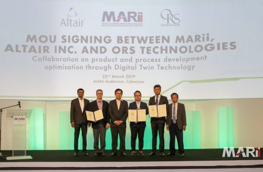 MARii, Altair Inc. and ORS sign Digital Twin agreement