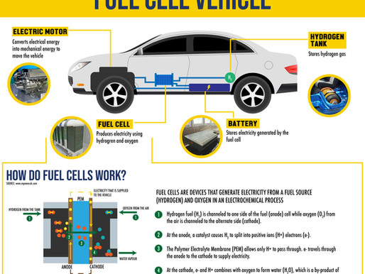 What are the major components in Fuel Cell Vehicles?
