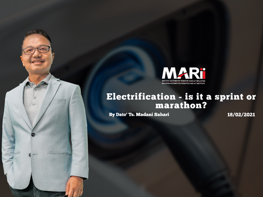 Electrification - is it a sprint or a marathon?