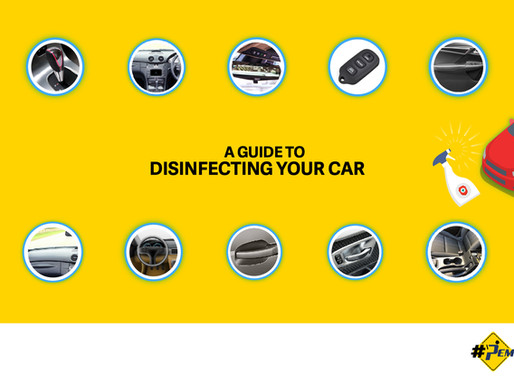A guide to disinfecting your car