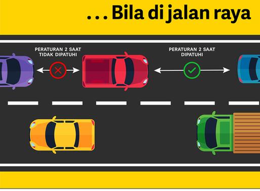 Amalkan jarak kenderaan yang selamat ketika memandu. #PemanduCekap.