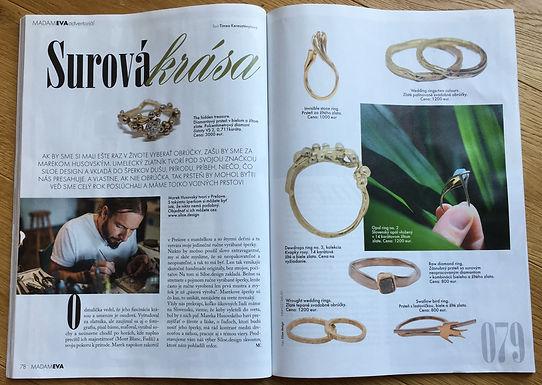 Surová krása Siloe.design v časopise Madam Eva