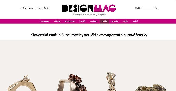 Slovenská značka Siloe Jewelry vytváří extravagantní a surové šperky