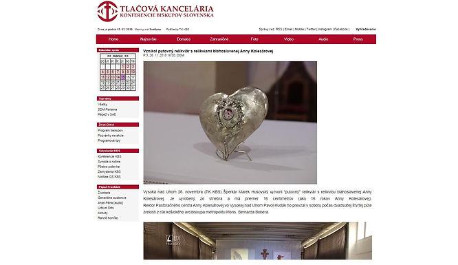 Vznikol putovný relikviár s relikviami bl. Anny Kolesárovej