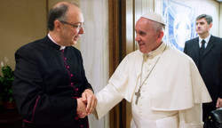 With  Papa Francesco