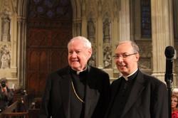 with Cardinal Egan at St. Pat's