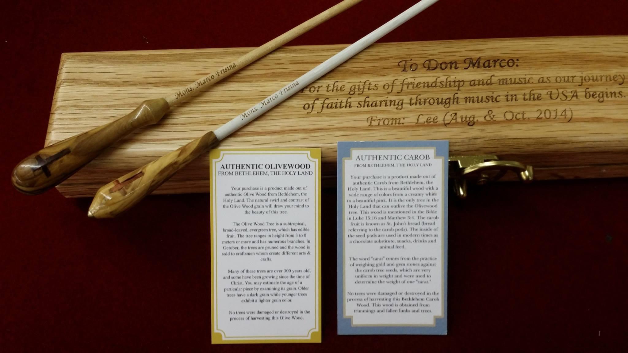 Gift of Batons to Marco Frisina