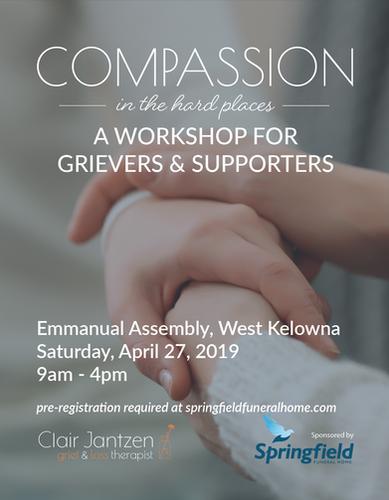 Grief Workshop Web Poster - Emmanual Ass