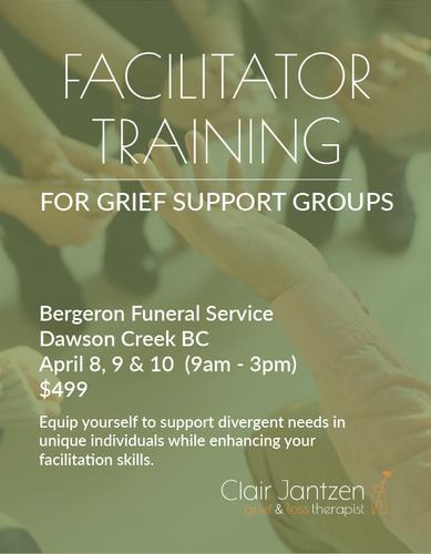 Facilitator Training Web Poster - Dawson