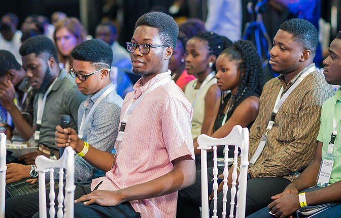 Young people seated at the Tech in Ghana Conference