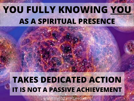You Fully Knowing You as a Spiritual Presence
