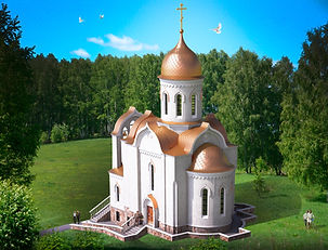 Храм Святого Николая Чудотворца .Проект храма москва, дом причта, часовня, колокольня, церква, собор
