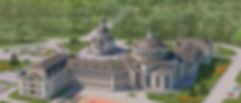 Храм Похвалы Пресвятой Богородицы. Центр Православного Зодчества. Проект храма Москва, дом причта ,церкви , собор