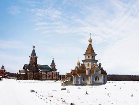 Начало строительства нового храма в Свято-Троицком Трифонов Печенгском мужском монастыре