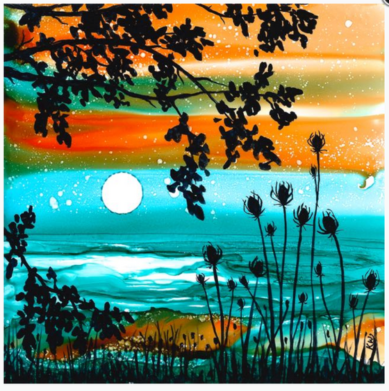 Alcohol Ink Painting hosted by Balsam-Hill Horton WI