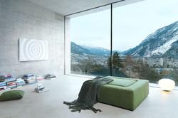 Runtal-Innenarchitektur-Loft-grünes_Sofa