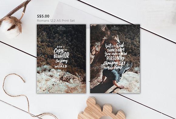 Romans 12:2 A5 Print Set