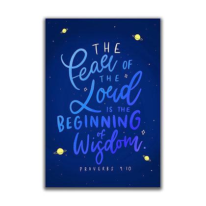Proverbs 9:10 A5 Print