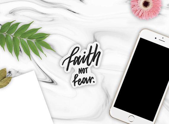 'Faith Not Fear' Iron-On Patch
