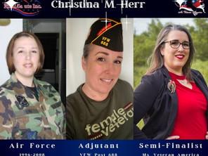 Post Adjutant is Semi-Finalist for Ms. Veteran America