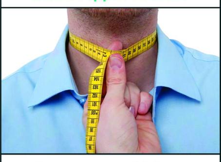 Измерете обиколката на шията