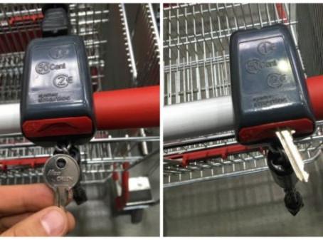 Как да си отключим количка за пазар, ако нямаме стотинки под ръка? (Вижте Видеото)