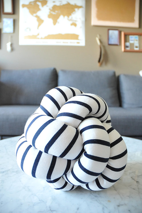 Striped Knot Pillow