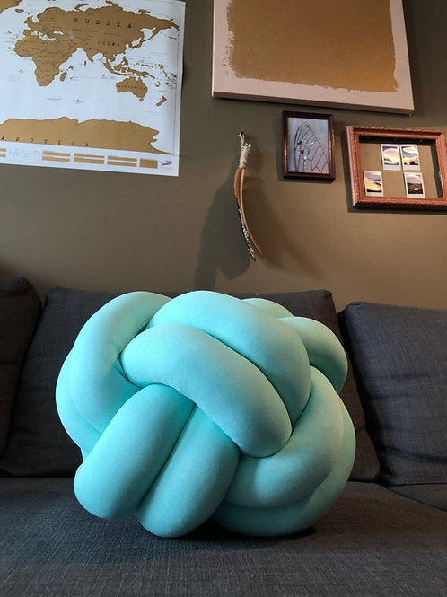 Mint Knot Pillow