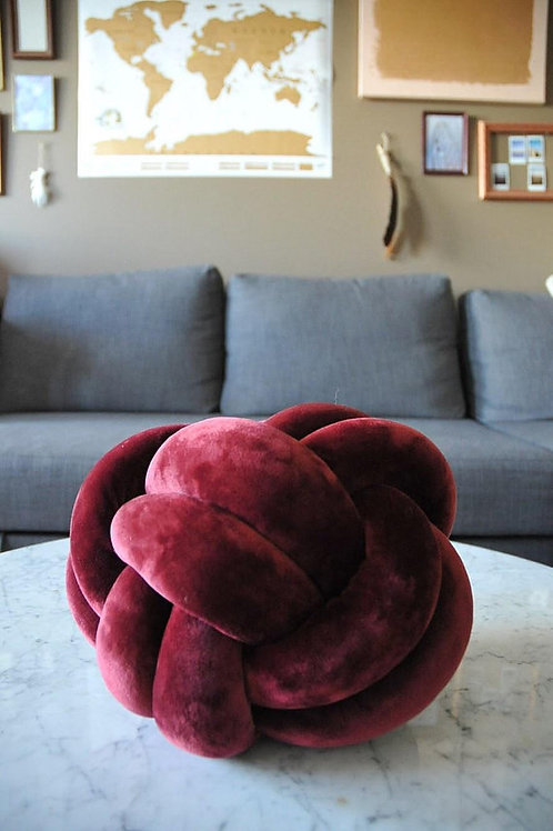 Burgundy Knot Pillow