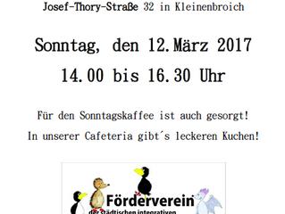 Kindertrödelmarkt am 12.03.2017 im Familienzentrum Josef- Thory- Straße