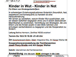 Kinder in Wut- Kinder in Not