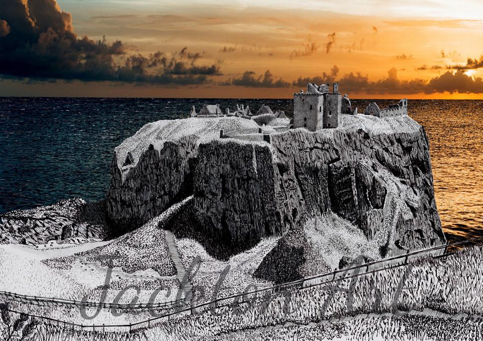 Dunnottar Castle sunrise - for website