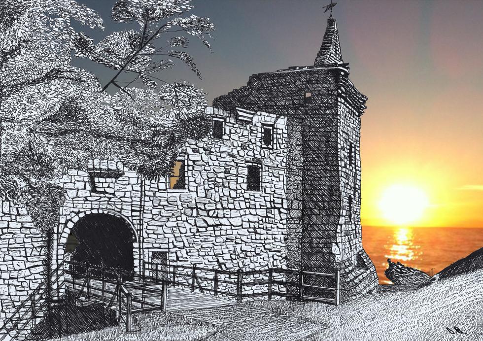 St Andrews Castle sunrise