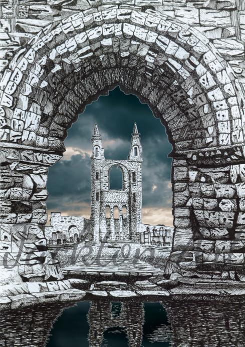 St Andrews Cathedral - dark sky