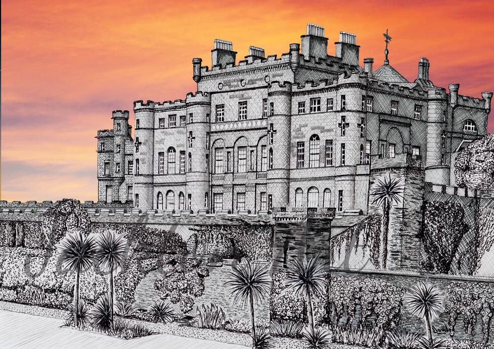 Culzean Castle sunset for website