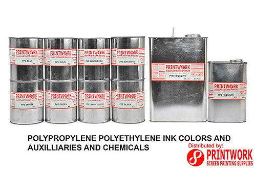 Polypropylene Polyethylene Ink Colors and Auxilliaries and Chemicals