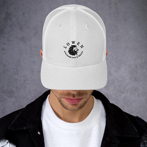 Lowen Mesh Snapback Black Lion Logo