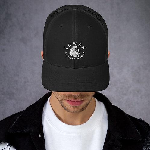 Lowen Mesh Snapback White Lion Logo