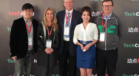 路怡珍:首位英語專訪Google執行長施密特的台灣女主播