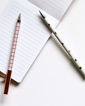 Dos plumas en el cuaderno